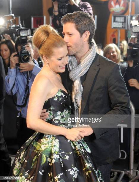 Actress Amy Adams and husband Darren Le Gallo arrive at the gala screening of On The Road during the 2012 AFI FEST at Grauman's Chinese Theatre on...