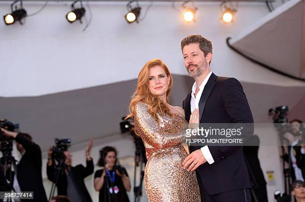 Actress Amy Adams and husband Darren Le Gallo arrive for the premiere of the movie 'Nocturnal Animals' presented in competition at the 73rd Venice...