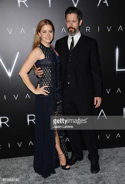 Actress Amy Adams and husband Darren Le Gallo attend the premiere of Paramount Pictures' Arrival at Regency Village Theatre on November 6 2016 in...