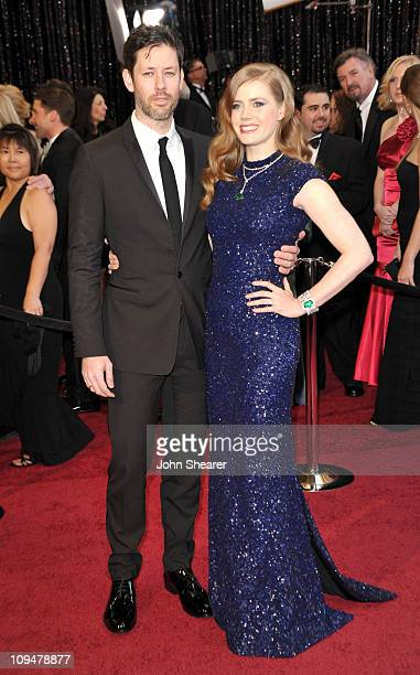 Actress Amy Adams and husband Darren Legallo arrive at the 83rd Annual Academy Awards held at the Kodak Theatre on February 27 2011 in Hollywood...