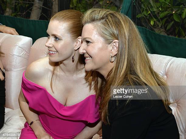 Actress Amy Adams and Senior West Coast Editor of Vanity Fair Krista Smith attend Vanity Fair and Chrysler Toast American Hustle during Vanity Fair...
