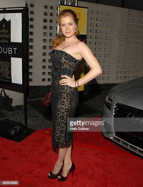 Actress Amy Adams arrives at 2008 AFI Fest Opening Night Film Premiere of 'Doubt' on October 30 2008 in Los Angeles California