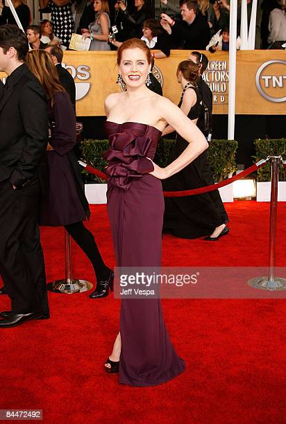 Actress Amy Adams arrives at the 15th Annual Screen Actors Guild Awards held at the Shrine Auditorium on January 25 2009 in Los Angeles California