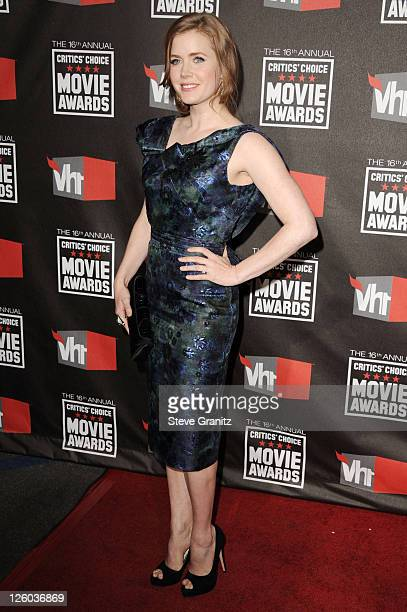 Actress Amy Adams arrives at the 16th Annual Critics' Choice Movie Awards at the Hollywood Palladium on January 14 2011 in Los Angeles California