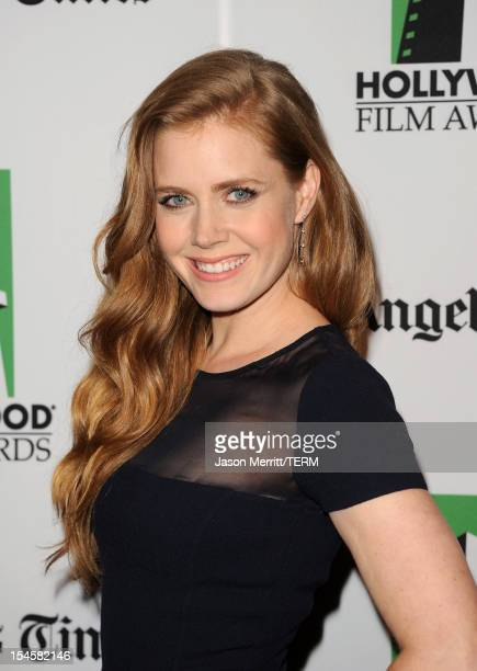 Actress Amy Adams arrives at the 16th Annual Hollywood Film Awards Gala presented by The Los Angeles Times held at The Beverly Hilton Hotel on...