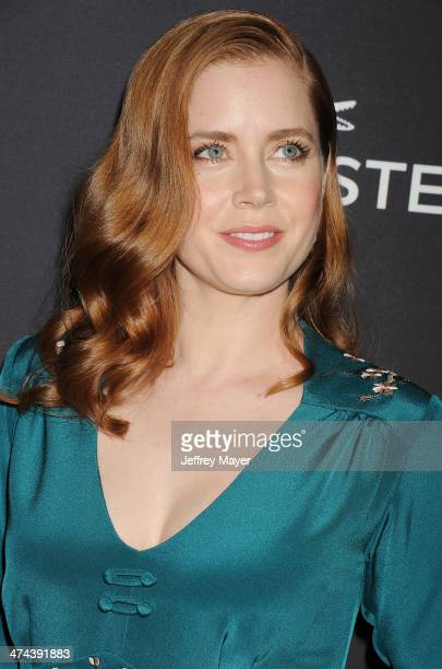 Actress Amy Adams arrives at the 16th Costume Designers Guild Awards at The Beverly Hilton Hotel on February 22 2014 in Beverly Hills California