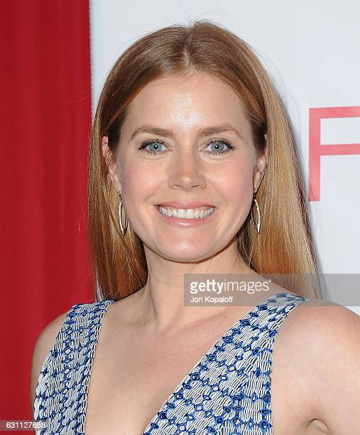 Actress Amy Adams arrives at the 17th Annual AFI Awards at Four Seasons Hotel Los Angeles at Beverly Hills on January 6 2017 in Los Angeles California