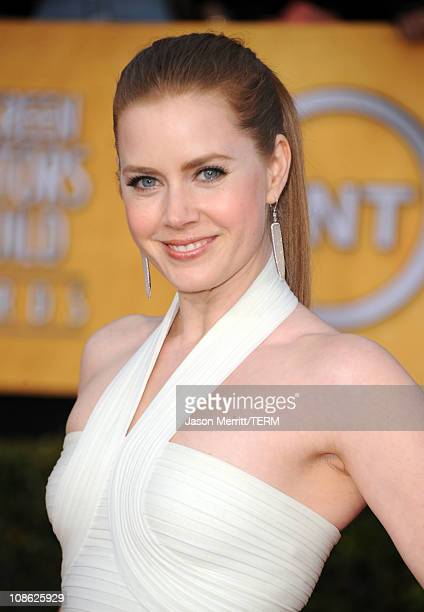 Actress Amy Adams arrives at the 17th Annual Screen Actors Guild Awards held at The Shrine Auditorium on January 30 2011 in Los Angeles California