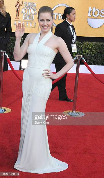 Actress Amy Adams arrives at the 17th Annual Screen Actors Guild Awards at The Shrine Auditorium on January 30 2011 in Los Angeles California