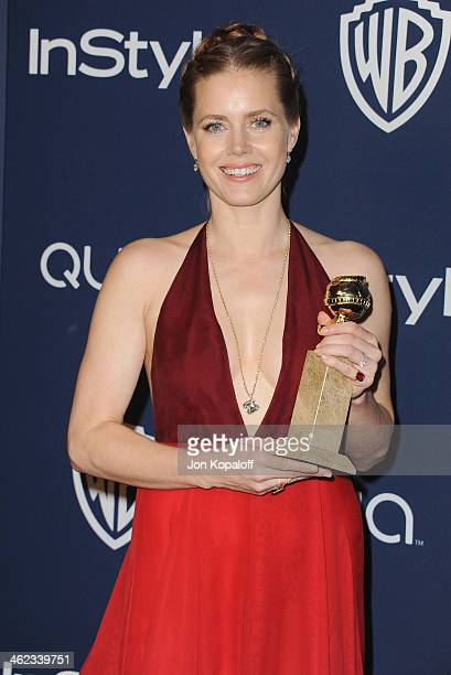 Actress Amy Adams arrives at the 2014 InStyle And Warner Bros 71st Annual Golden Globe Awards PostParty on January 12 2014 in Beverly Hills California