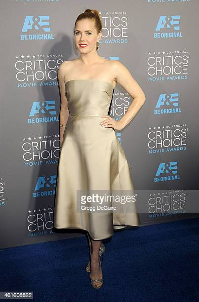 Actress Amy Adams arrives at the 20th Annual Critics' Choice Movie Awards at Hollywood Palladium on January 15 2015 in Los Angeles California