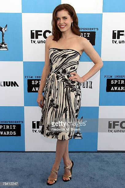 Actress Amy Adams arrives at the 22nd Annual Film Independent Spirit Awards held at Santa Monica Beach on February 24 2007 in Santa Monica California