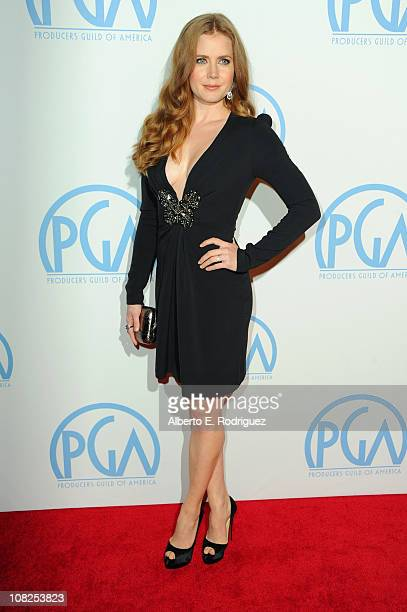Actress Amy Adams arrives at the 22nd Annual Producers Guild Awards at The Beverly Hilton hotel on January 22 2011 in Beverly Hills California
