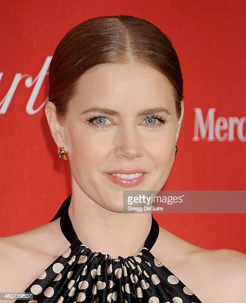 Actress Amy Adams arrives at the 25th Annual Palm Springs International Film Festival Awards Gala at Palm Springs Convention Center on January 4 2014...