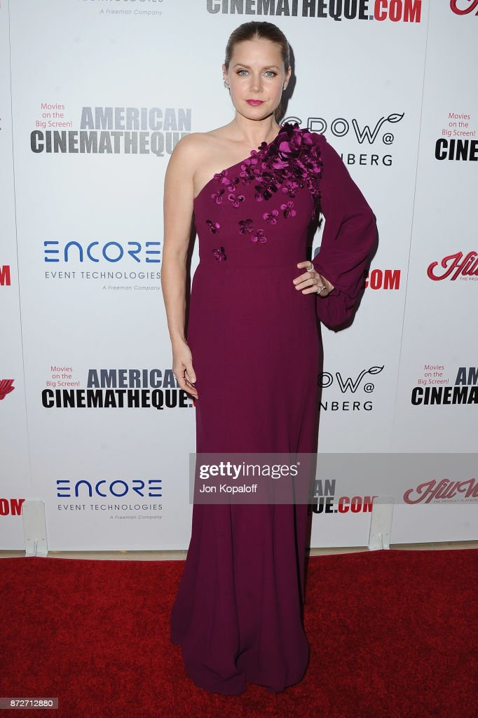 Actress Amy Adams arrives at the 31st Annual American Cinematheque Awards Gala at The Beverly Hilton Hotel on November 10, 2017 in Beverly Hills, California.