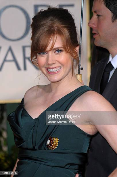 Actress Amy Adams arrives at the 67th Annual Golden Globe Awards held at The Beverly Hilton Hotel on January 17 2010 in Beverly Hills California
