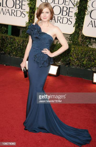 Actress Amy Adams arrives at the 68th Annual Golden Globe Awards held at The Beverly Hilton hotel on January 16 2011 in Beverly Hills California