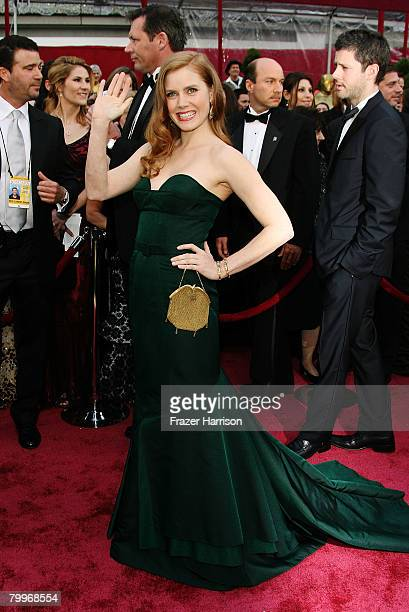 Actress Amy Adams arrives at the 80th Annual Academy Awards held at the Kodak Theatre on February 24 2008 in Hollywood California