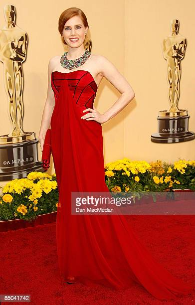 Actress Amy Adams arrives at the 81st Academy Awards at The Kodak Theatre on February 22 2009 in Hollywood California