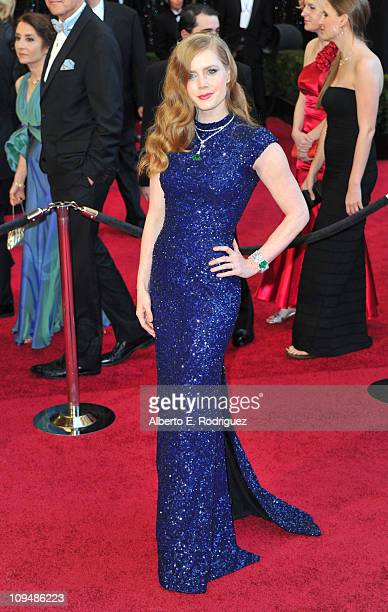 Actress Amy Adams arrives at the 83rd Annual Academy Awards held at the Kodak Theatre on February 27 2011 in Los Angeles California