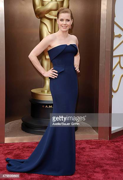 Actress Amy Adams arrives at the 86th Annual Academy Awards at Hollywood Highland Center on March 2 2014 in Hollywood California
