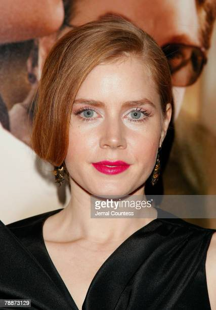 Actress Amy Adams arrives at the New York Premiere of 'Charlie Wilson's War' at the Museum of Modern Art on December 16 2007 in New York City