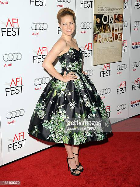 Actress Amy Adams arrives at the 'On The Road' premiere during the 2012 AFI Fest presented by Audi at Grauman's Chinese Theatre on November 3 2012 in...