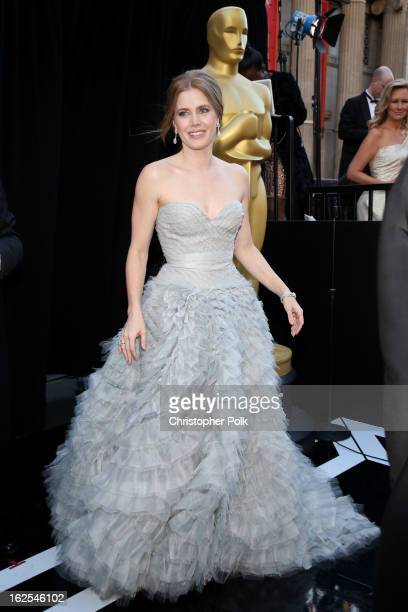Actress Amy Adams arrives at the Oscars held at Hollywood Highland Center on February 24 2013 in Hollywood California