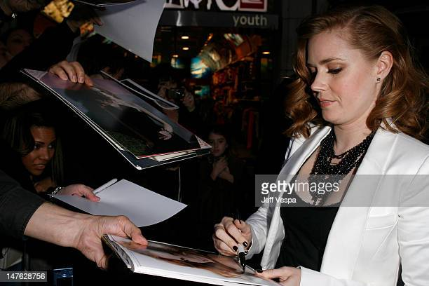 Actress Amy Adams arrives at the premiere of 'Sunshine Cleaning' held at Pacific Theaters at The Grove on March 9 2009 in Los Angeles California