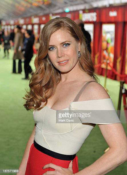 Actress Amy Adams arrives at the premiere of Walt Disney Pictures' 'The Muppets' held at the El Capitan Theatre on November 12 2011 in Hollywood...