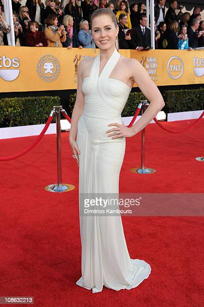 Actress Amy Adams arrives at the TNT/TBS broadcast of the 17th Annual Screen Actors Guild Awards held at The Shrine Auditorium on January 30 2011 in...
