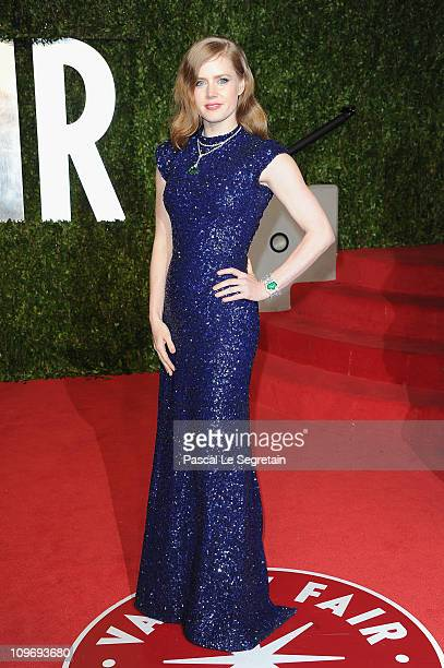 Actress Amy Adams arrives at the Vanity Fair Oscar party hosted by Graydon Carter held at Sunset Tower on February 27 2011 in West Hollywood...