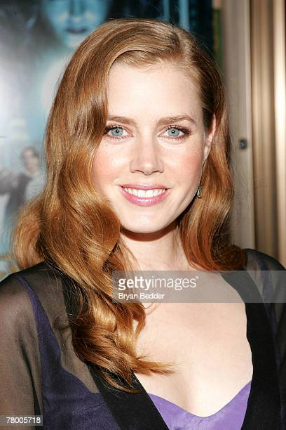 Actress Amy Adams arrives at the Walt Disney Pictures' screening of Enchanted at the Ziegfeld Theater on November 19 2007 in New York City