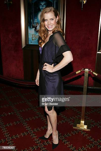 Actress Amy Adams arrives at the Walt Disney Pictures' screening of Enchanted at the Ziegfeld Theater November 19 2007 in New York City