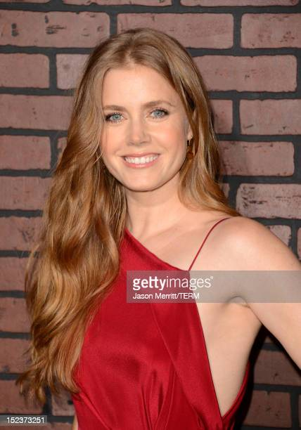 Actress Amy Adams arrives at Warner Bros Pictures' 'Trouble With The Curve' premiere at Regency Village Theatre on September 19 2012 in Westwood...