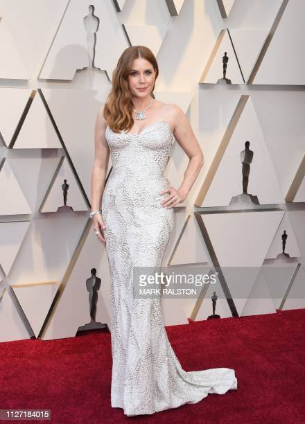 US actress Amy Adams arrives for the 91st Annual Academy Awards at the Dolby Theatre in Hollywood California on February 24 2019