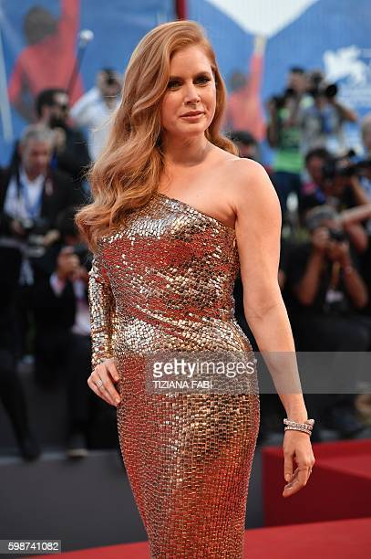 Actress Amy Adams arrives for the premiere of the movie 'Nocturnal Animals' presented in competition at the 73rd Venice Film Festival on September 2...