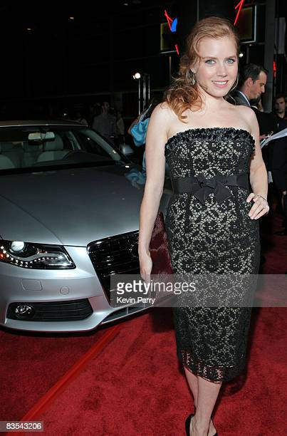 Actress Amy Adams arrives in an Audi to the 2008 AFI Fest Opening Night film premiere of 'Doubt' at Arclight October 30 2008 in Los Angeles California