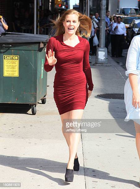 Actress Amy Adams arrives to 'Late Show with David Letterman' at Ed Sullivan Theater on August 28 2012 in New York City