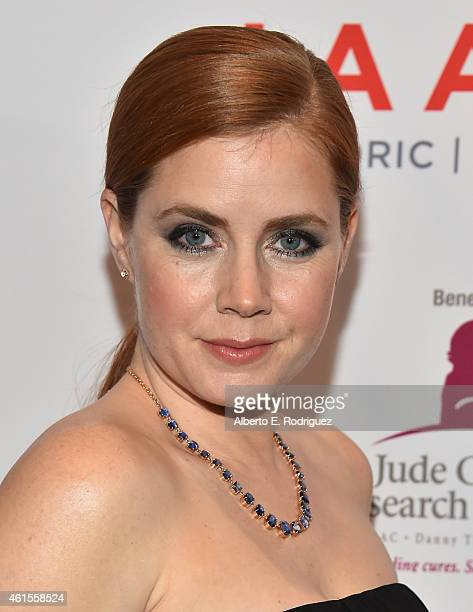 Actress Amy Adams arrives to the LA Art Show 2015 Opening Night Premiere Party at the Los Angeles Convention Center on January 14 2015 in Los Angeles...