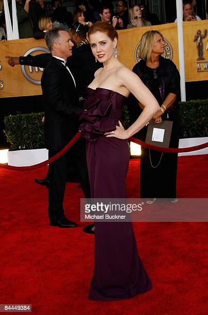 Actress Amy Adams arrives to the TNT/TBS broadcast of the 15th Annual Screen Actors Guild Awards at the Shrine Auditorium on January 25 2009 in Los...