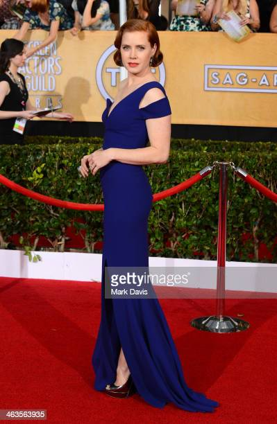 Actress Amy Adams attends 20th Annual Screen Actors Guild Awards at The Shrine Auditorium on January 18 2014 in Los Angeles California