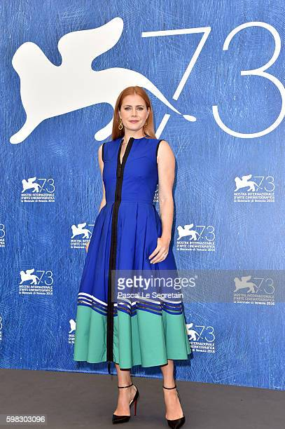 Actress Amy Adams attends a photocall for 'Arrival' during the 73rd Venice Film Festival at Palazzo del Casino on September 1 2016 in Venice Italy