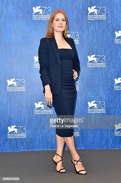 Actress Amy Adams attends a photocall for 'Nocturnal Animals' during the 73rd Venice Film Festival at Palazzo del Casino on September 2 2016 in...