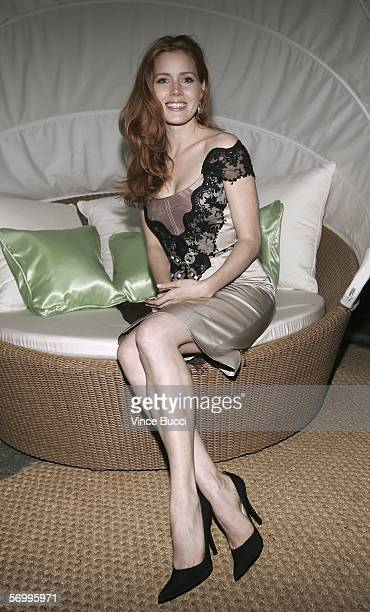 Actress Amy Adams attends a preOscar party at Endeavor partner Ari Emmanuel's home on March 3 2006 in the Brentwood section of Los Angeles California