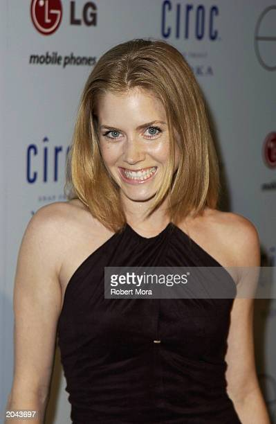 Actress Amy Adams attends Ashton Kutcher Endeavor's MTV Movie Awards kickoff party at Dolce Restaurant on May 30 2003 in West Hollywood California...