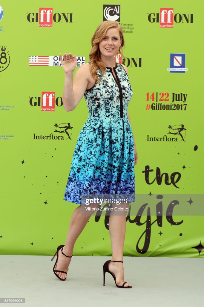 Actress Amy Adams attends Giffoni Film Festival 2017 photocall on July 18, 2017 in Giffoni Valle Piana, Italy.