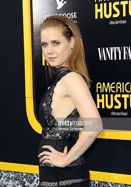 Actress Amy Adams attends Grey Goose Vodka and Vanity Fair present in part the world premiere of Columbia Pictures And Annapurna Pictures American...
