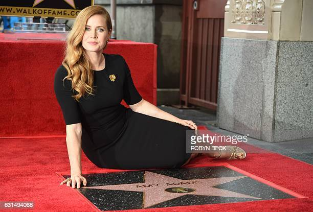 Actress Amy Adams attends her star ceremony on the Hollywood Walk of Fame on January 11 2017 in Hollywood California / AFP / ROBYN BECK