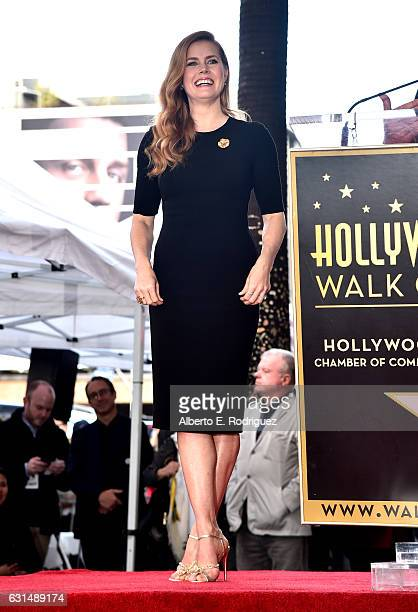 Actress Amy Adams attends star ceremony on the Hollywood Walk of Fame on January 11 2017 in Hollywood California